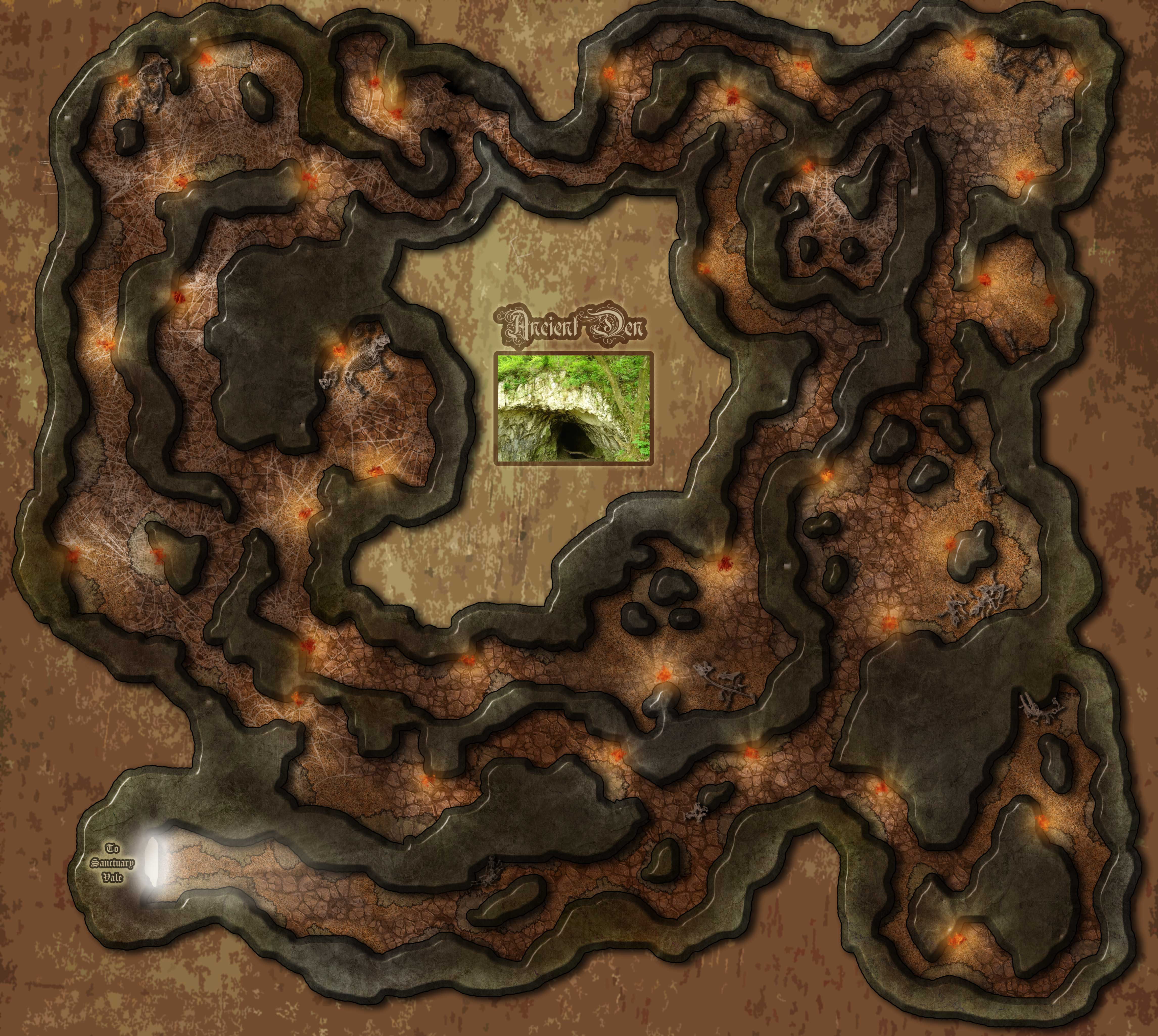 Encounter Map Ancient Den Falleron Cartography