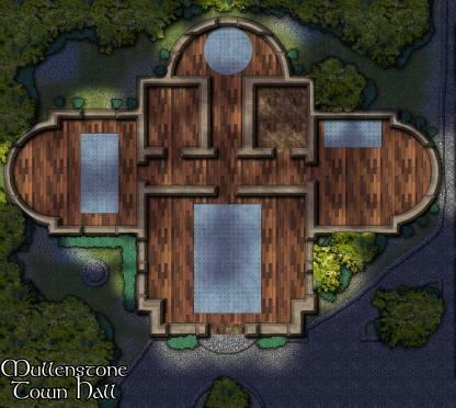 Mullenstone: Town Hall (Night)
