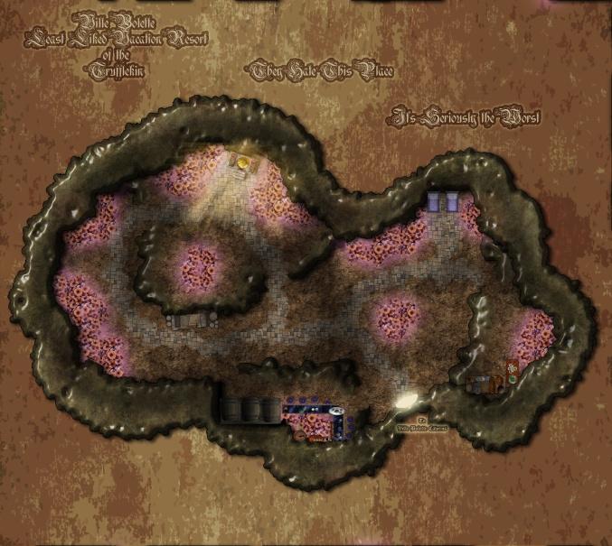 Ville Bollette Caverns: Truffletown