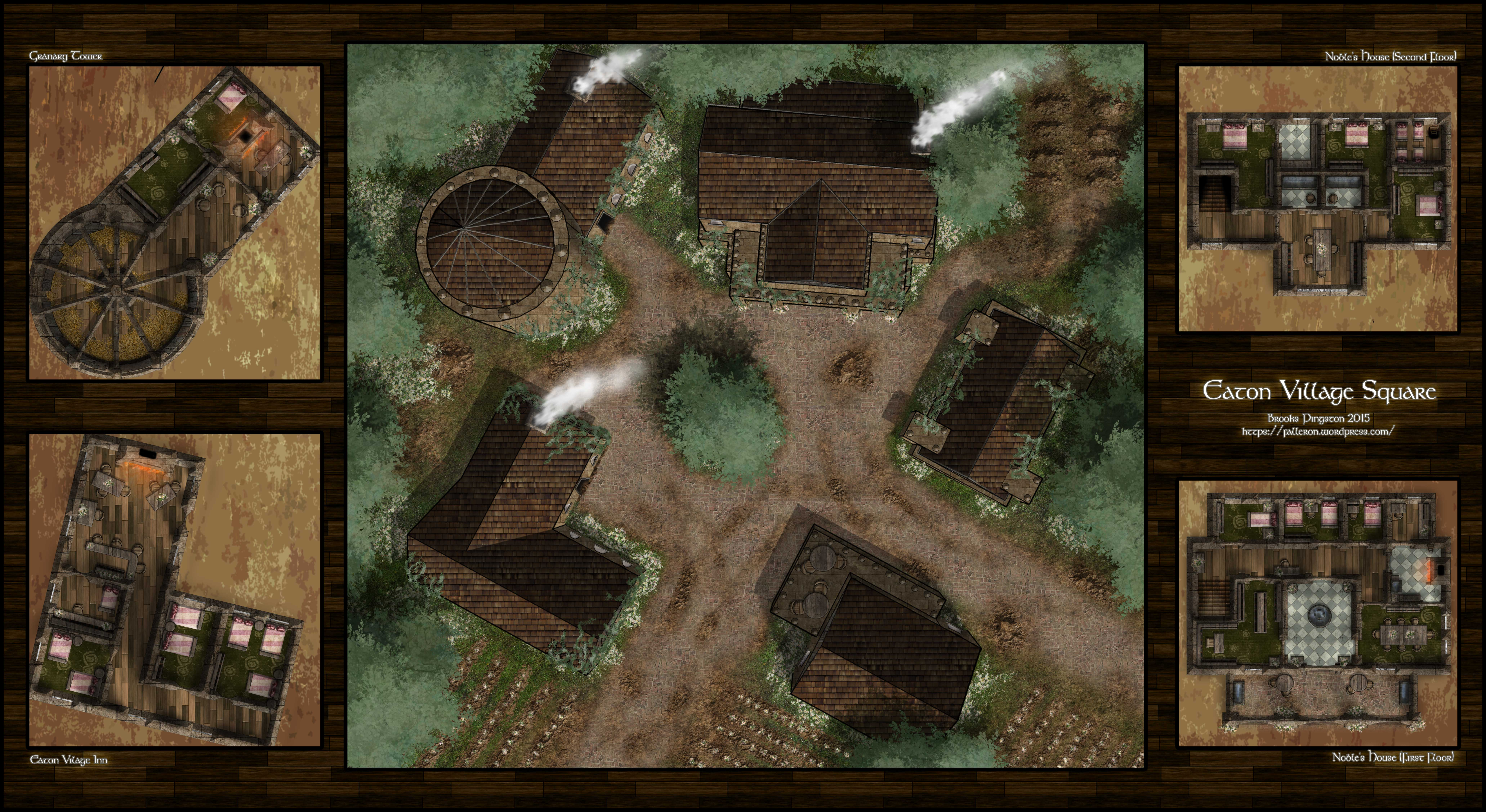 Encounter Maps X2 Eaton Village And Orchards Falleron Cartography
