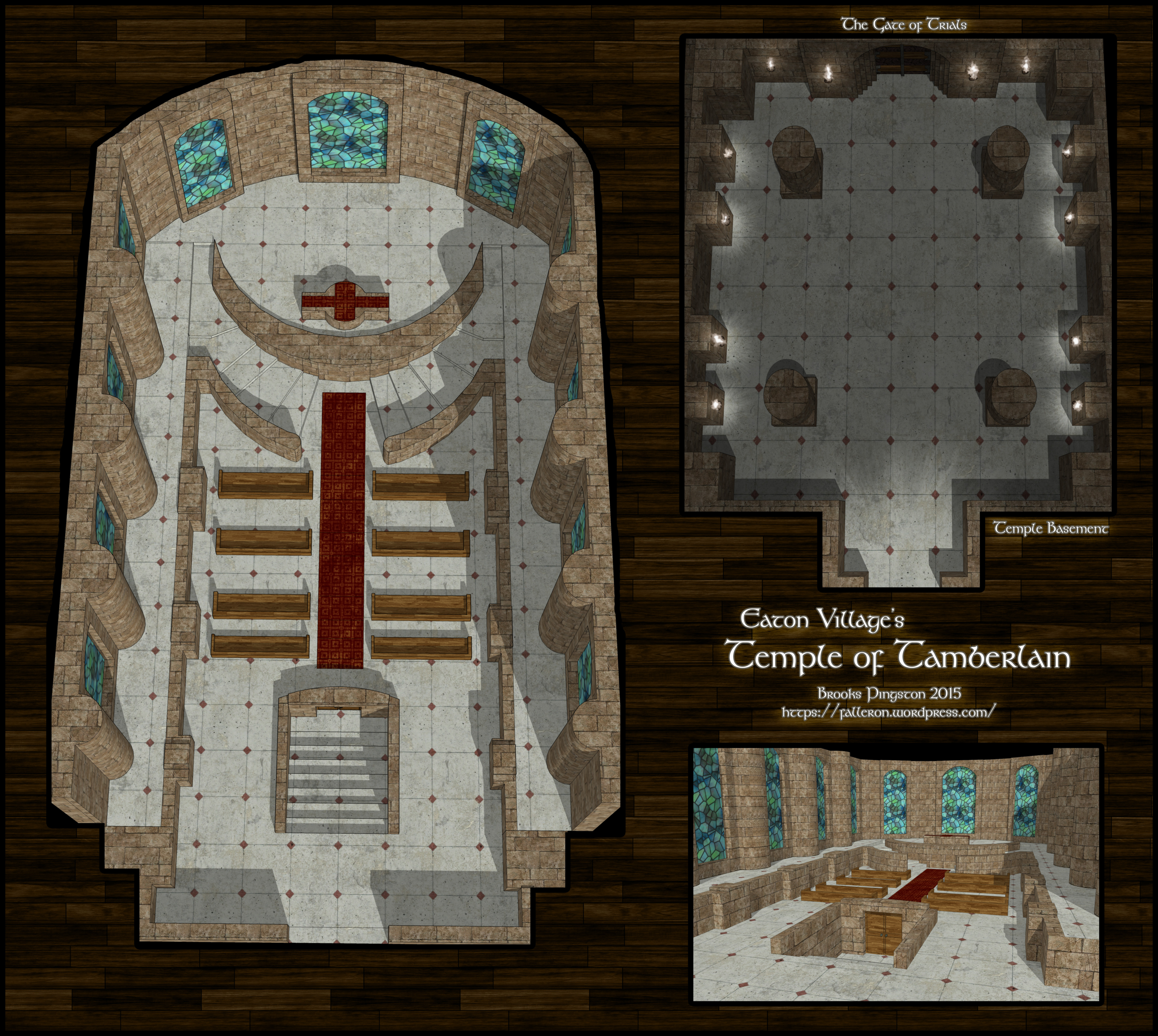Encounter Map x2 Temple of Tamberlain Interior Falleron