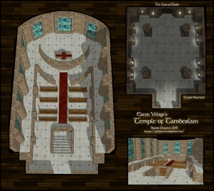 Temple of Tamberlain at Eaton, Main floor