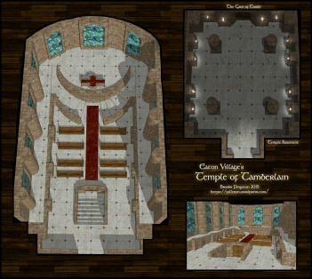 Temple of Tamberlain at Eaton, Main floor