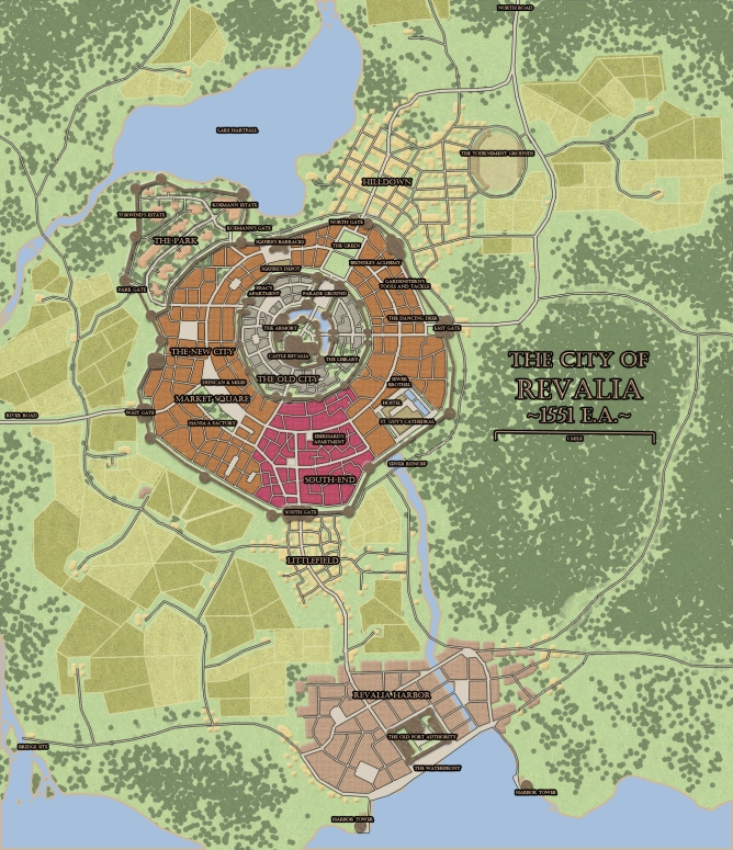 City of Revalia Map