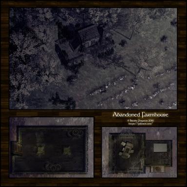 Abandoned Farmhouse: Night