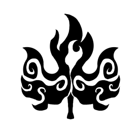 Gien's symbol is the burning leaf, representing her dual creative and destructive nature.