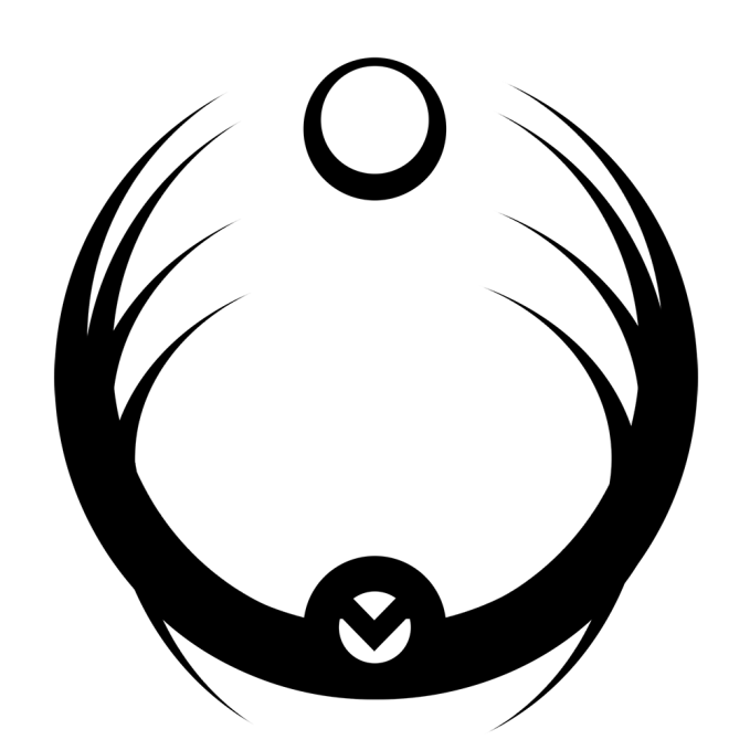 Mab's symbol is a barbed circle reaching for the world, representing her constant aim to alter and influence the mortal plane from the faewild.