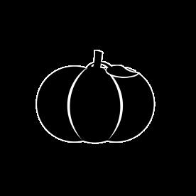 Samhain's symbol is a great pumpkin, reflecting his nature of plenty.