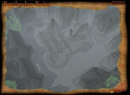 Bentley Inn Ruins Day Fog