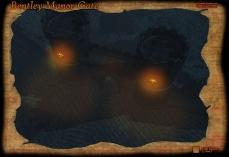 Bentley Manor Gate Night Fog