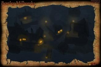 Bentley Mill Night Fog