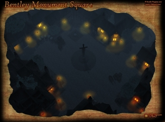 Bentley Square Night Fog