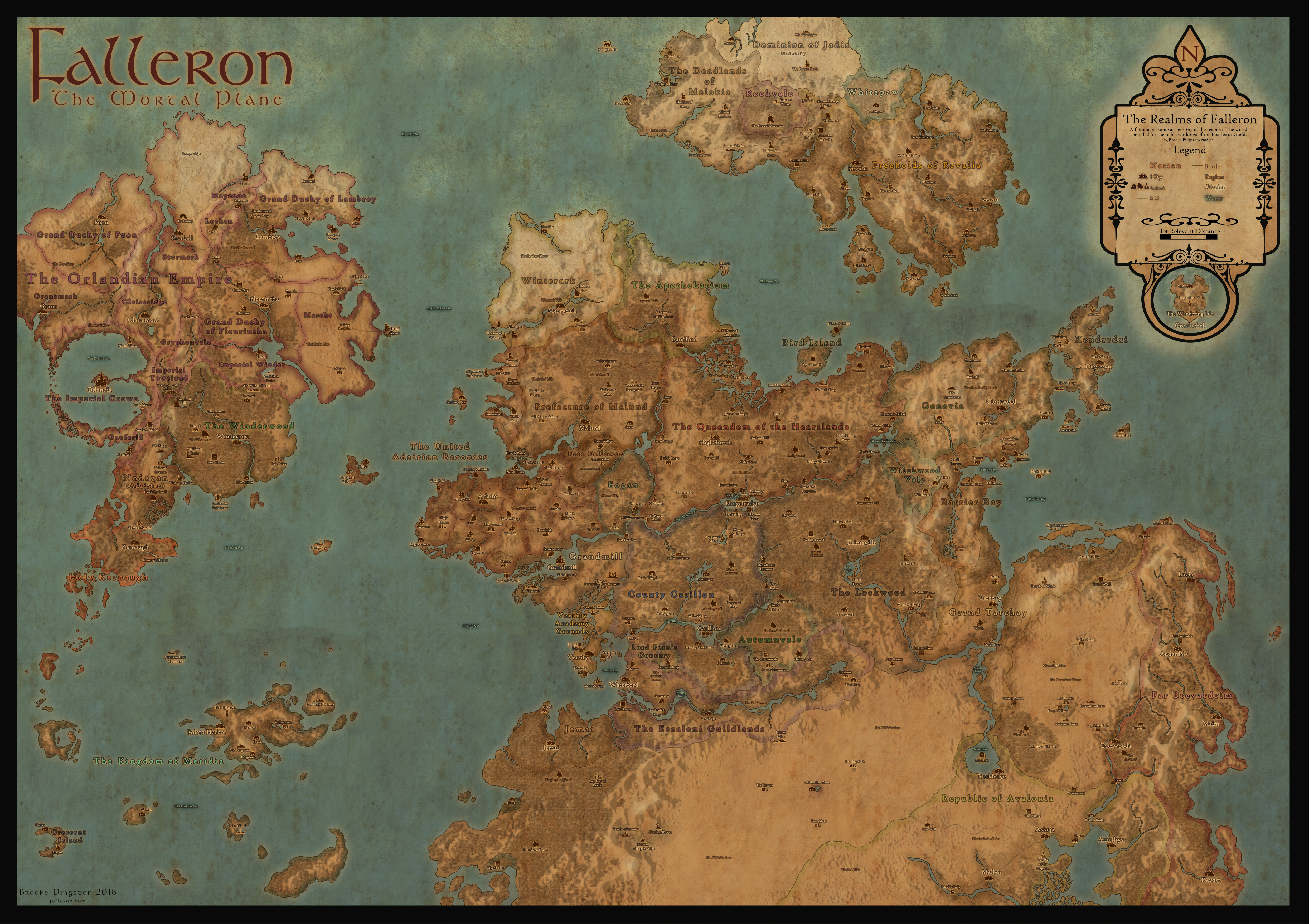 World map realms falleron cartography world map realms gumiabroncs Image collections