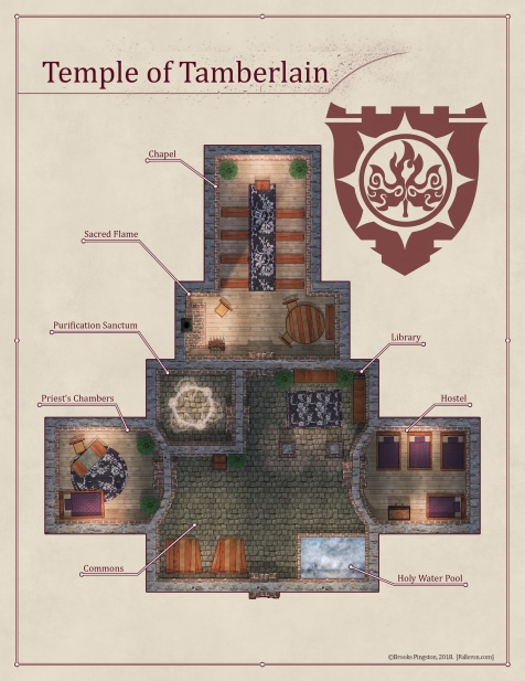 Temple of Tamberlain Interior