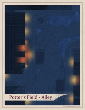 Potter's Field Night Alley Rain